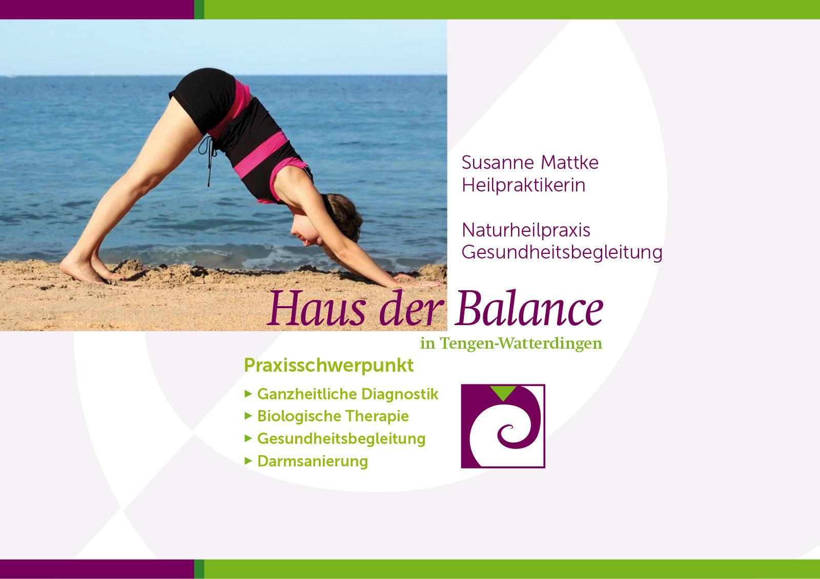 Gesundheitsbegleitung: Haus der Balance: Susanne Mattke, Heilpraktikerin und Fastenkursleiterin. Gesundheitsbegleitung und Fastenkurse im Hegau. Aktuelle Termine – Jetzt anmelden!